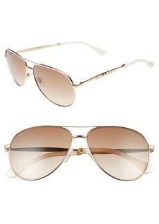 Jimmy Choo Jewlys 58mm Aviator Sunglasses