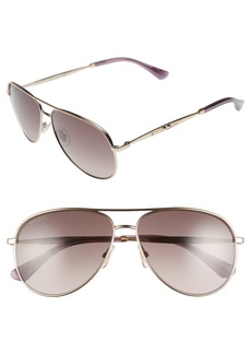 Jimmy Choo Jewlys 58mm Aviator Sunglasses