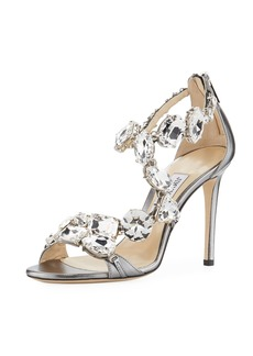 Jimmy Choo Karima Crystal 100mm Sandal