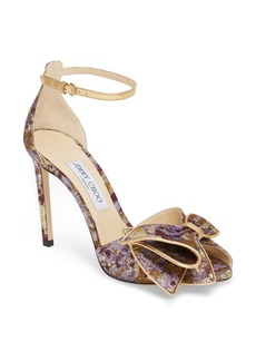 Jimmy Choo Karlotta Bow Peep Toe Pump (Women)