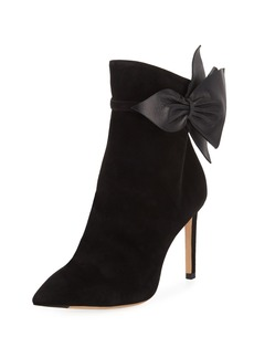 Jimmy Choo Kassidy Suede Booties with Leather Bow