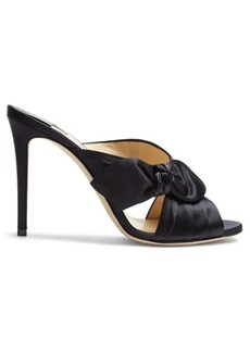 Jimmy Choo Keely 100mm side-bow satin mules