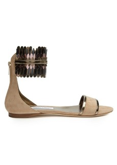 Jimmy Choo Kimro suede flat sandals