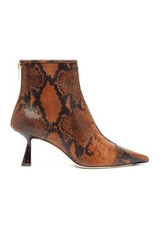 Jimmy Choo Kix 65 python-effect leather boots