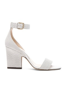 Jimmy Choo Edina 85 Embossed Leather Sandals