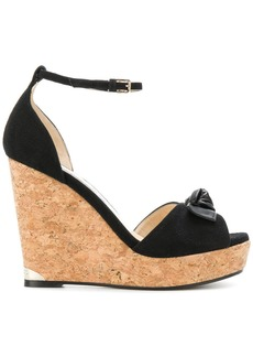 Jimmy Choo knotted wedge sandals - Black