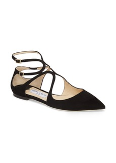 Jimmy Choo Lancer Ankle Strap Flat (Women)