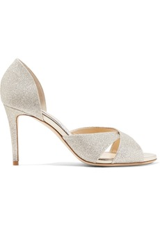 Jimmy Choo Lara 85 glittered leather sandals