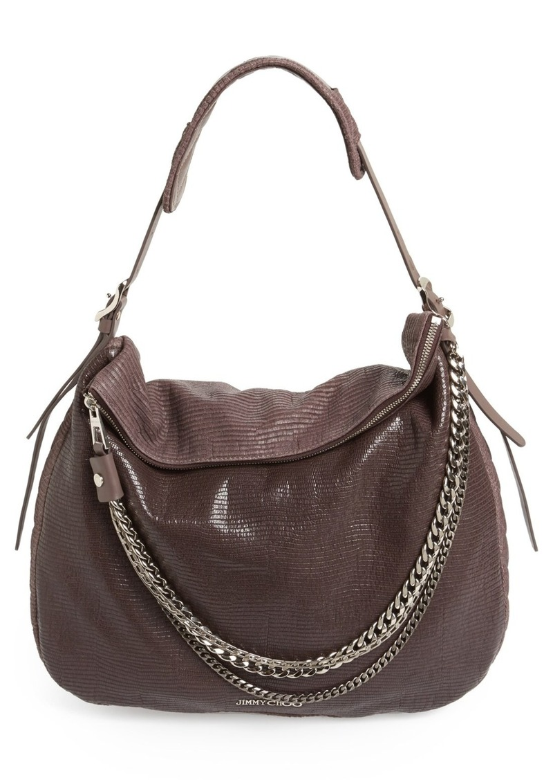 jimmy choo jimmy choo 39 large boho 39 leather hobo handbags shop it to me. Black Bedroom Furniture Sets. Home Design Ideas