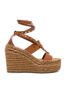 Jimmy Choo Danica 110 Leather Wedges