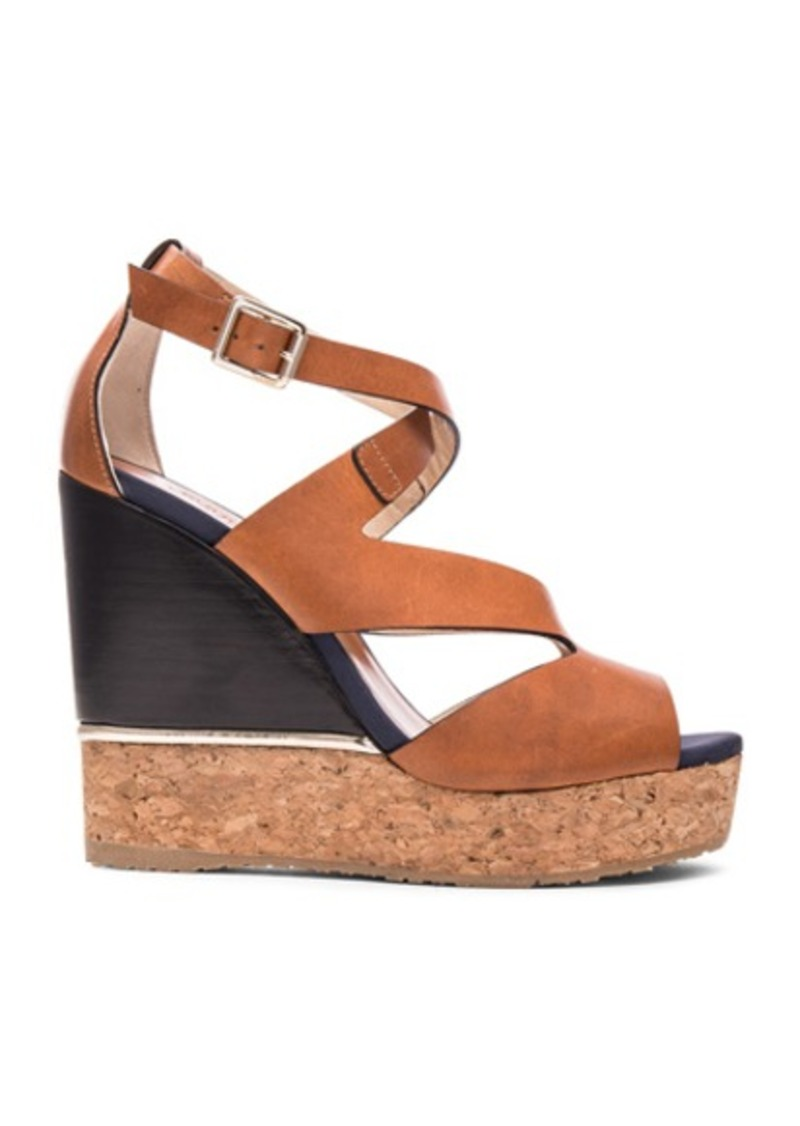 Jimmy Choo Leather Nate Wedges