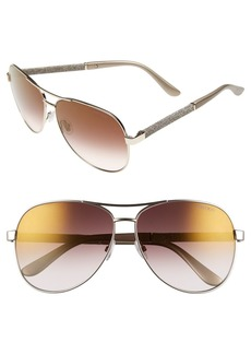 Jimmy Choo 'Lexie' 61mm Aviator Sunglasses
