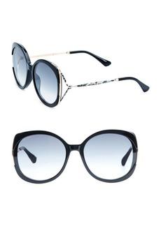 Jimmy Choo Lila 57MM Round Sunglasses