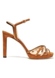 Jimmy Choo Lilah 100 crossover-strap suede sandals