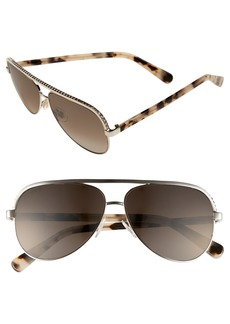 Jimmy Choo 'Linas' 59mm Aviator Sunglasses