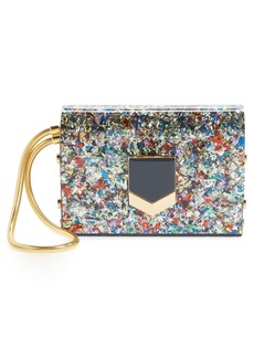 Jimmy Choo 'Lockett Minaudière' Multi Confetti Glitter Clutch
