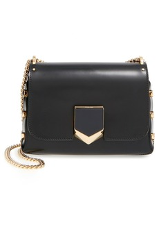 Jimmy Choo 'Lockett Petite' Spazzolato Leather Shoulder Bag
