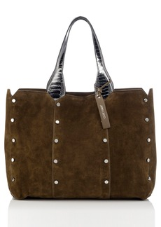 Jimmy Choo Lockett Suede & Metallic Leather Shopper