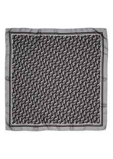 Jimmy Choo Logo Foulard Silk Square Scarf