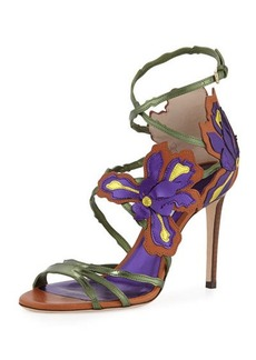 Jimmy Choo Lolita Floral Strappy 100mm Sandal