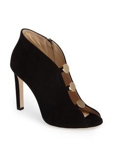 Jimmy Choo Lorna Button Open-Toe Bootie