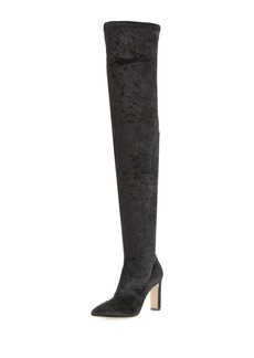 Jimmy Choo Lorraine Stretch-Velvet Over-the-Knee Boot