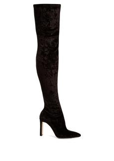 Jimmy Choo Lorraine velvet high boots