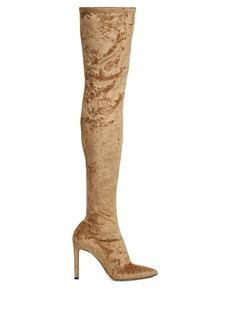 Jimmy Choo Lorraine velvet over-the-knee boots