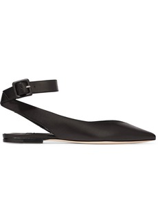Jimmy Choo Lou leather point-toe flats