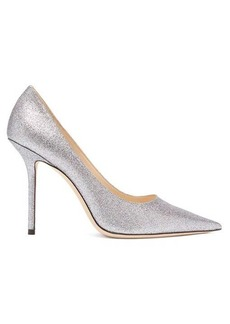 Jimmy Choo Love 100 glittered-leather pumps