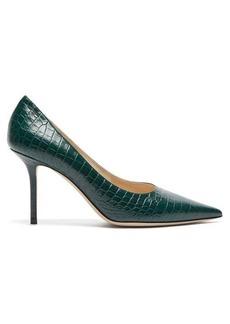 Jimmy Choo Love 85 crocodile-embossed leather pumps