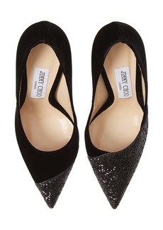 Jimmy Choo Love Asymmetrical Cap Toe Pump (Women)