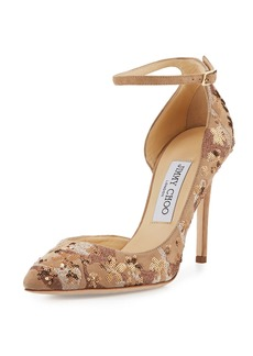 Jimmy Choo Lucy Sequined Half-d'Orsay Pump