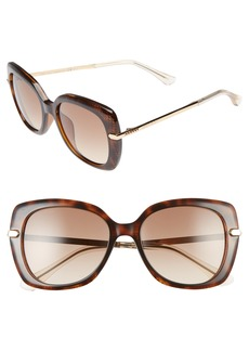 Jimmy Choo Ludis 53mm Gradient Sunglasses