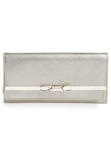 Jimmy Choo Lydia Metallic Leather Envelope Clutch