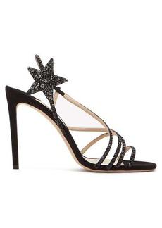 Jimmy Choo Lynn 100 crystal-embellished suede sandals