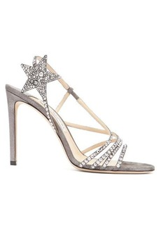 Jimmy Choo Lynn 100 metallic-leather sandals
