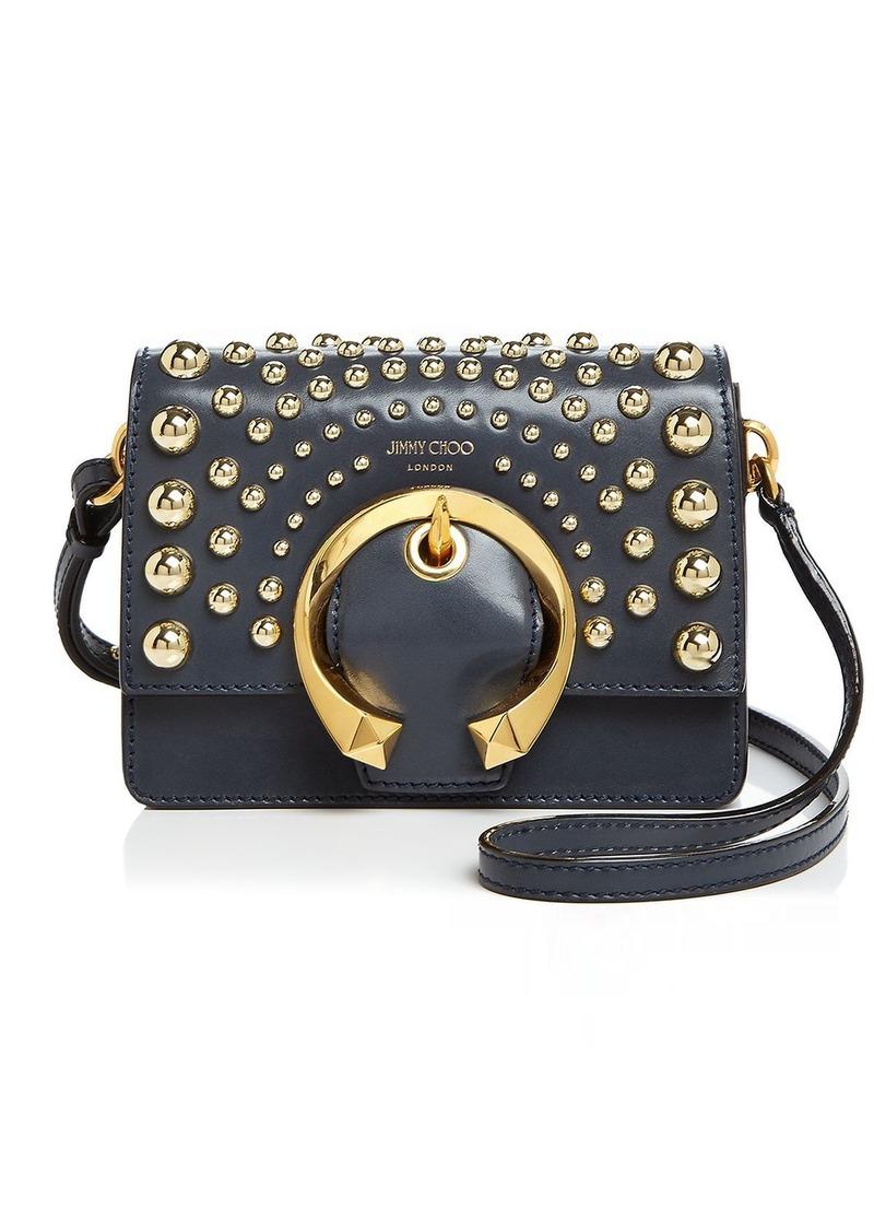 Jimmy Choo Madeline Small Studded Leather Shoulder Bag