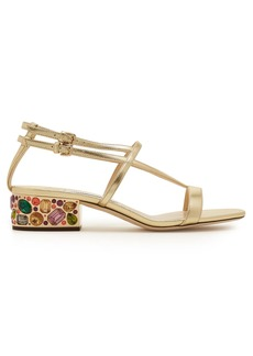 Jimmy Choo Maeve 35 metallic crystal embellished sandals