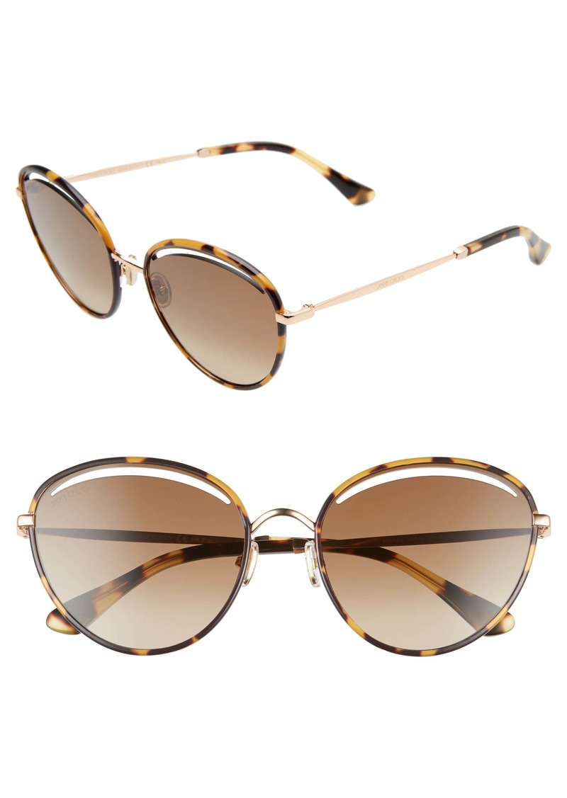 Jimmy Choo Malya 59mm Cutout Lens Sunglasses