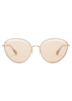 Jimmy Choo Malya round metal sunglasses