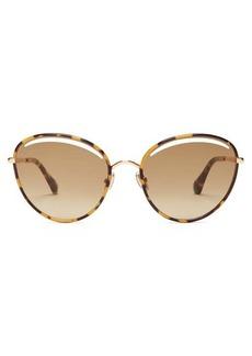 Jimmy Choo Malya tortoiseshell round acetate sunglasses