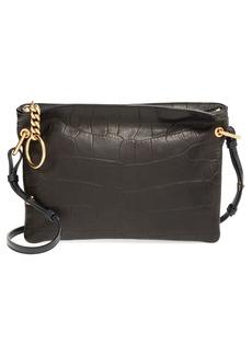 Jimmy Choo 'Mardy' Croc Embossed Leather Crossbody Bag