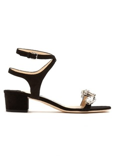 Jimmy Choo Marine crystal-embellished suede sandals