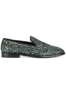 Jimmy Choo Marlo glitter loafers - Metallic