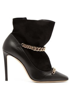 Jimmy Choo Maruxa 100 chain-strap leather ankle boots