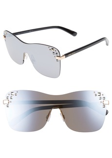 Jimmy Choo Masks 63mm Rimless Shield Sunglasses