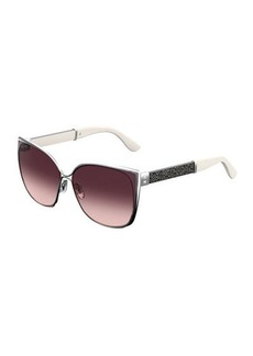 Jimmy Choo Maty Metallic Butterfly Sunglasses