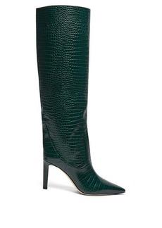 Jimmy Choo Mavis 85 crocodile-effect leather boots