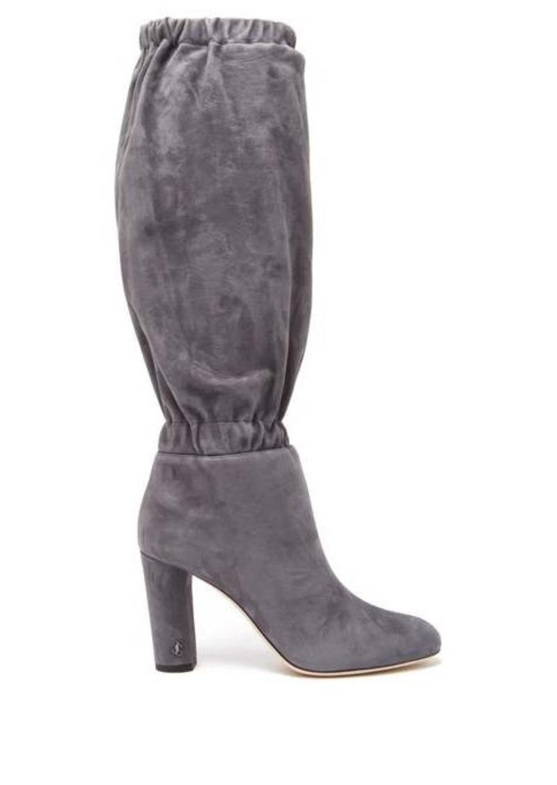 Jimmy Choo Maxyn 85 knee-high suede boots